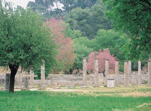 Palaestra, Olympia, Greece, World Heritage : Stock Photo