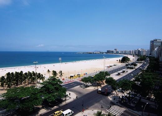 Copacabana coast, Rio de Janeiro, Brazil, Latin America, October : Stock Photo