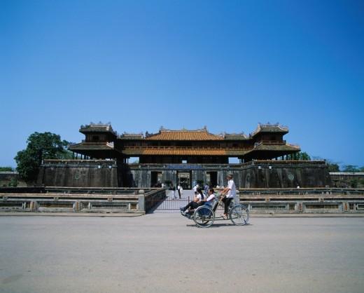 Stock Photo: 4034-9588 Cua Ngo Mon gate Hue Dai Noi Nguyen Era dynasty palace Xich Lo Hue Vietnam