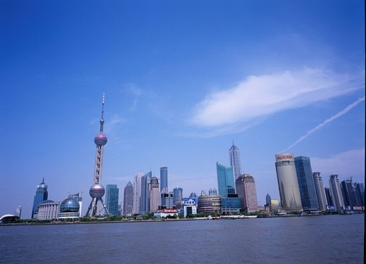 Buildings, Wai Tan, Building, Shanghai, China : Stock Photo