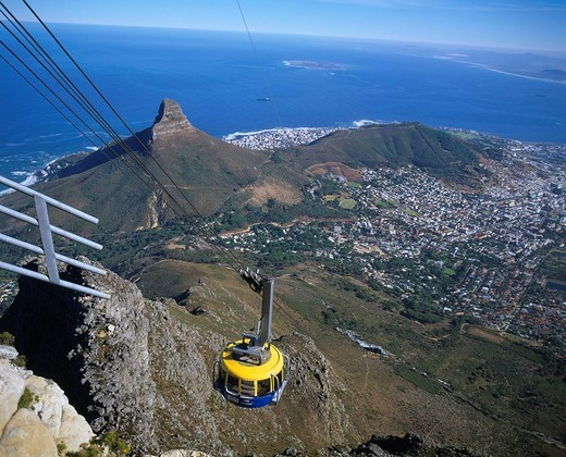 Ropeway Lion´s Head Mountain Cape Town South Africa : Stock Photo