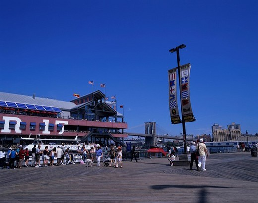Pier 17, Building, New York, United States of America : Stock Photo