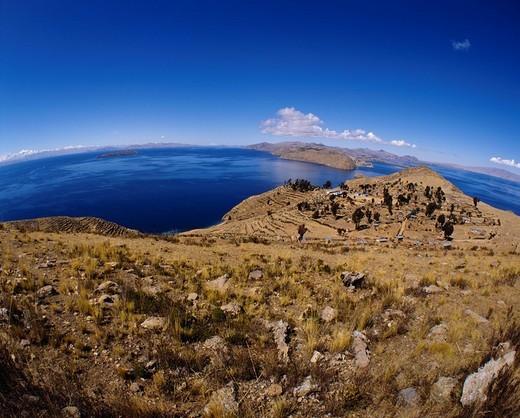 Lago Titicaca, Isla del Sol, Bolivia : Stock Photo