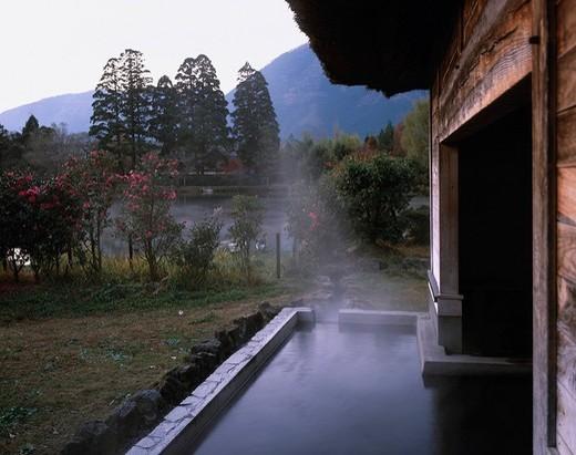 Yufuin Hot Spring, Sitanyu, Public Bath, Yufuin, Oita, Japan : Stock Photo