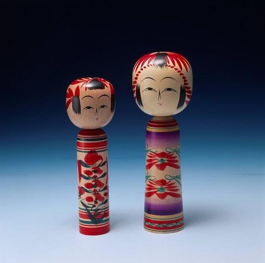Folkcraft Wooden doll Naruko Miyagi Japan : Stock Photo