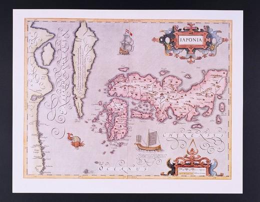 Map, Old Map, Japan, Japan, Asia : Stock Photo