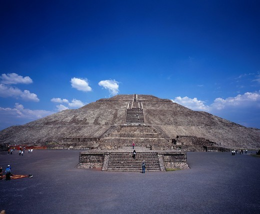 Pyramid of the Sun, Teotihuacan, Mexico, Central South America, World Heritage : Stock Photo