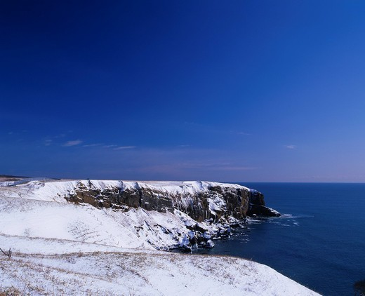 Winter, Sea, Ocean, Hamanaka, Hokkaido, Japan : Stock Photo
