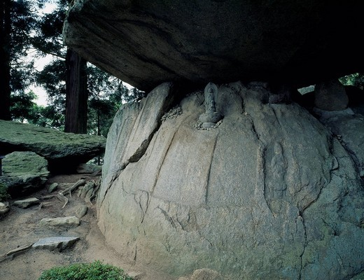 Stock Photo: 4034-99703 Adachigahara, Kurozuka, Oni no Iwaya, Demon´s Cave, Nihonmatsu, Fukushima, Tohoku, Japan