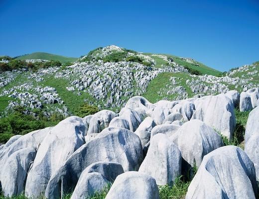 Hiraodai, karst tableland, Kitakyushu, Fukuoka, Kyushu, Japan : Stock Photo