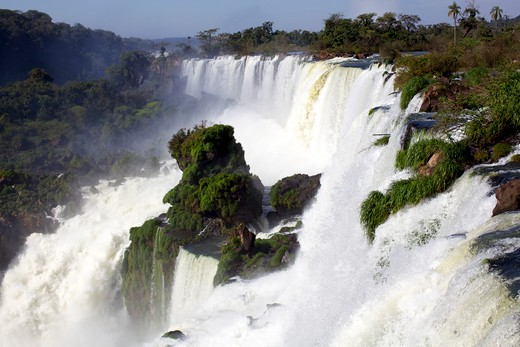 Waterfalls in a river, Iguacu Falls, Argentina : Stock Photo