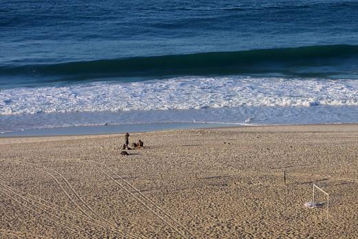Stock Photo: 4038-266 Surf on the beach, Copacabana Beach, Rio de Janeiro, Brazil