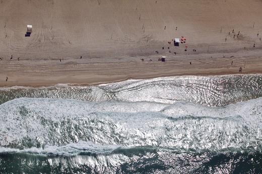 Stock Photo: 4038-278 Aerial view of a beach, Copacabana Beach, Rio de Janeiro, Brazil