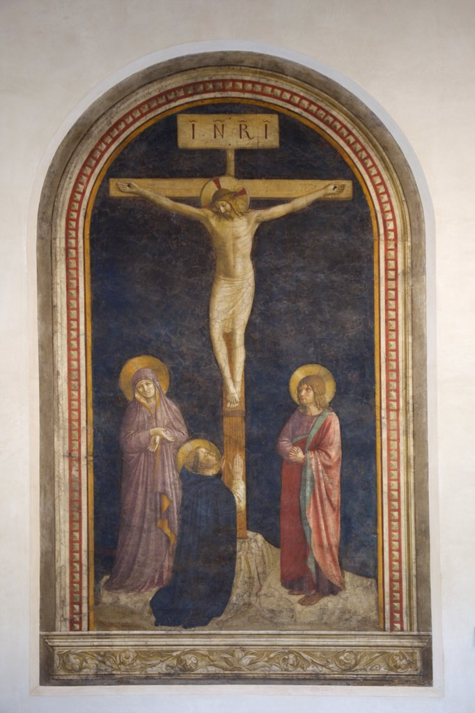 Stock Photo: 4042-1178 Calvary by Fra Angelico, 1440, France, Paris, Musee du Louvre