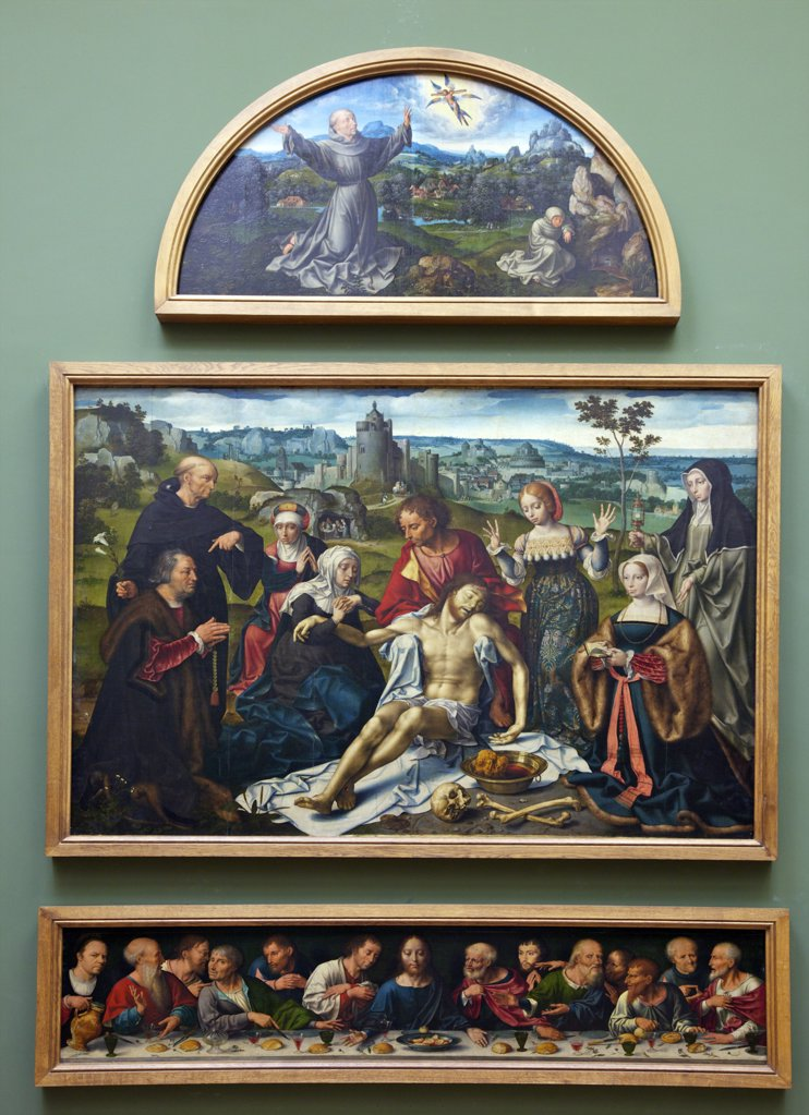 Stock Photo: 4042-1255 Lamentation Of Christ Taken Down From The Cross by Joos van Cleve, 1525, France, Paris, Musee du Louvre