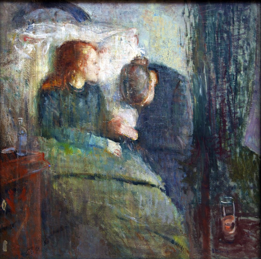 Stock Photo: 4042-1295 The Sick Child by Edvard Munch, 1886, Norway, Oslo, National Gallery