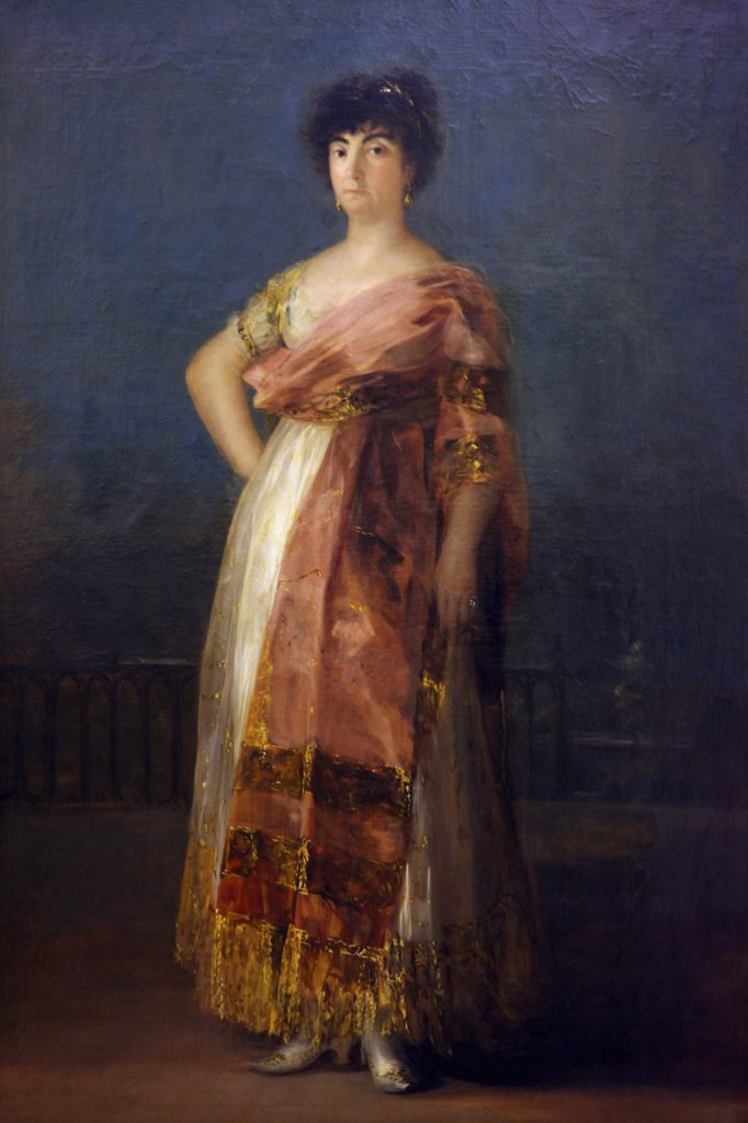 Stock Photo: 4042-1552 La Tirana by Francisco de Goya y Lucientes, 1799, Spain, Madrid, Real Academia de Bellas Artes