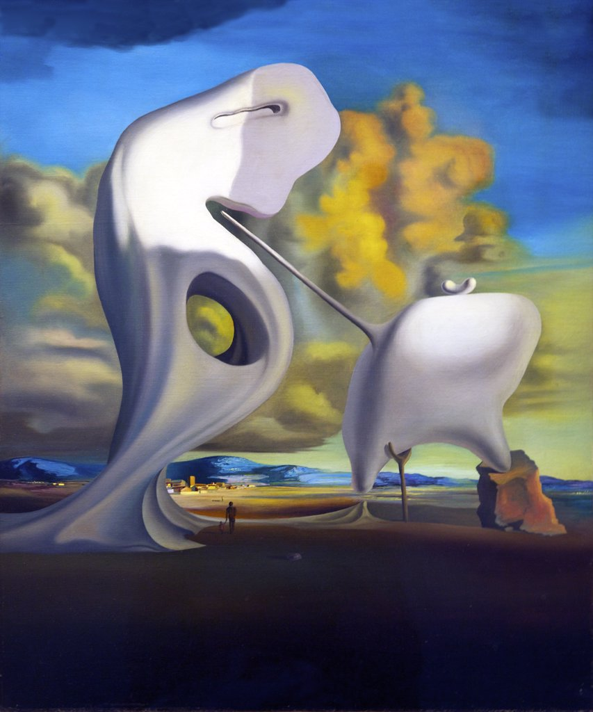The Architectural Angelus of Millet by Salvador Dali, 1933, Spain, Madrid, Reina Sofia Museum of Modern Art : Stock Photo