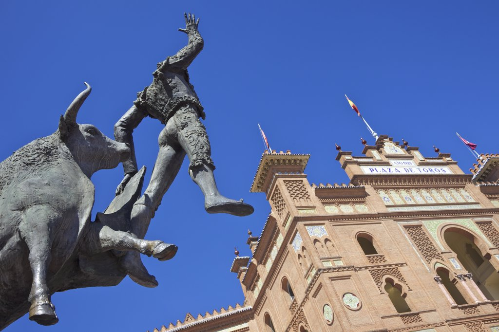 Stock Photo: 4042-1615 Monument to the matador Jose Cubero outside of Las Ventas Bullring, Madrid, Spain