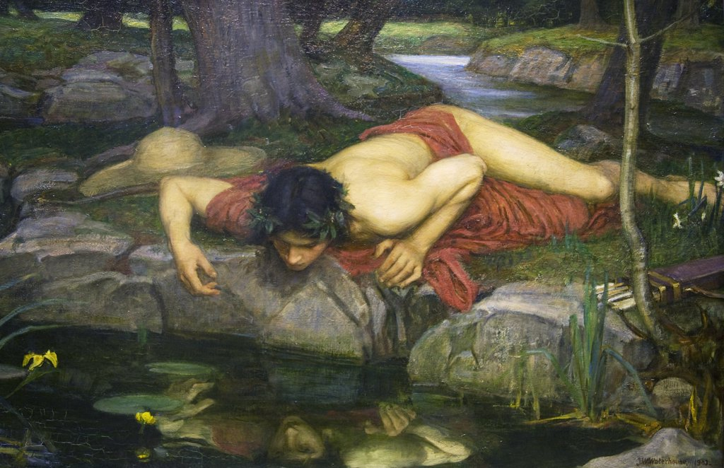Stock Photo: 4042-169 Detail of Echo and Narcissus by John William Waterhouse painted 1903