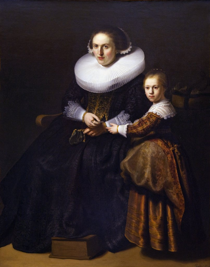 Stock Photo: 4042-193 Susanna van Collen and her daughter Anna by Rembrandt, 1633, Wallace Collection, London, United Kingdom