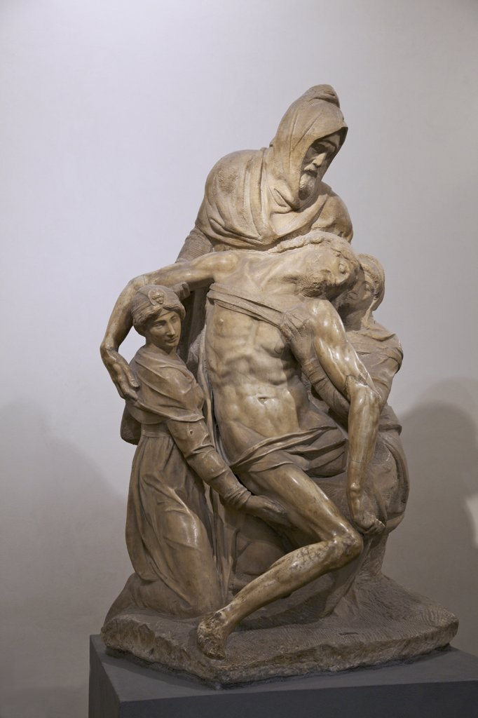 Stock Photo: 4042-1955 Pieta, by Michelangelo, 1550-1553, Museo dell'Opera del Duomo, Florence, Tuscany, Italy, Europe