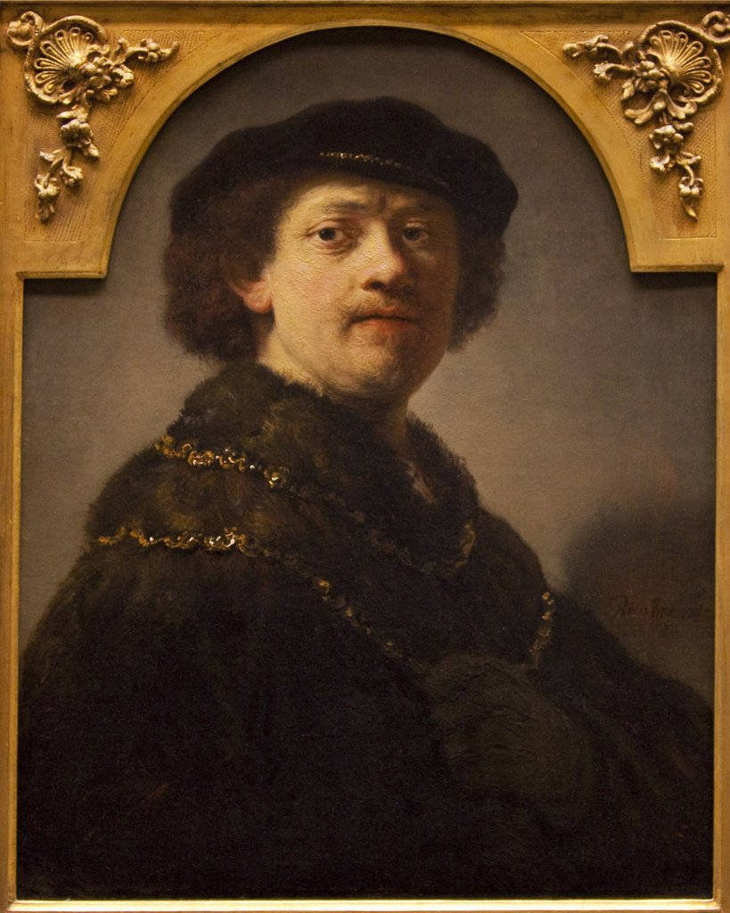 Stock Photo: 4042-197 Self Portrait by Rembrandt van Rijn, 1637, Wallace Collection, London, United Kingdom