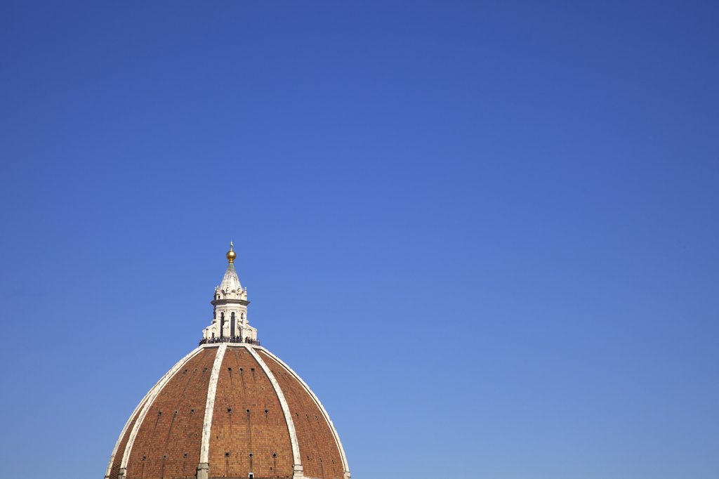 Stock Photo: 4042-2005 High section view of Brunelleschi's dome for the Duomo Santa Maria Del Fiore, Florence, Tuscany, Italy