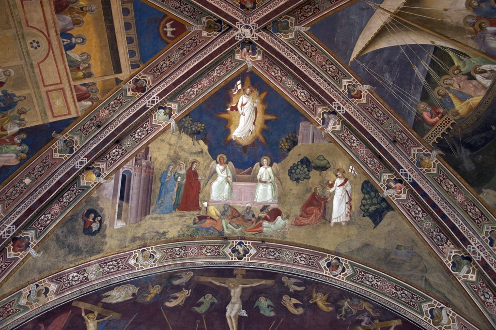 Stock Photo: 4042-2008 The Resurrection, by Andrea di Bonaiuto, 1365-1367, Spanish Chapel, Cappellone degli Spagnoli, Basilica of Santa Maria Novella, Florence, Tuscany, Italy, Europe