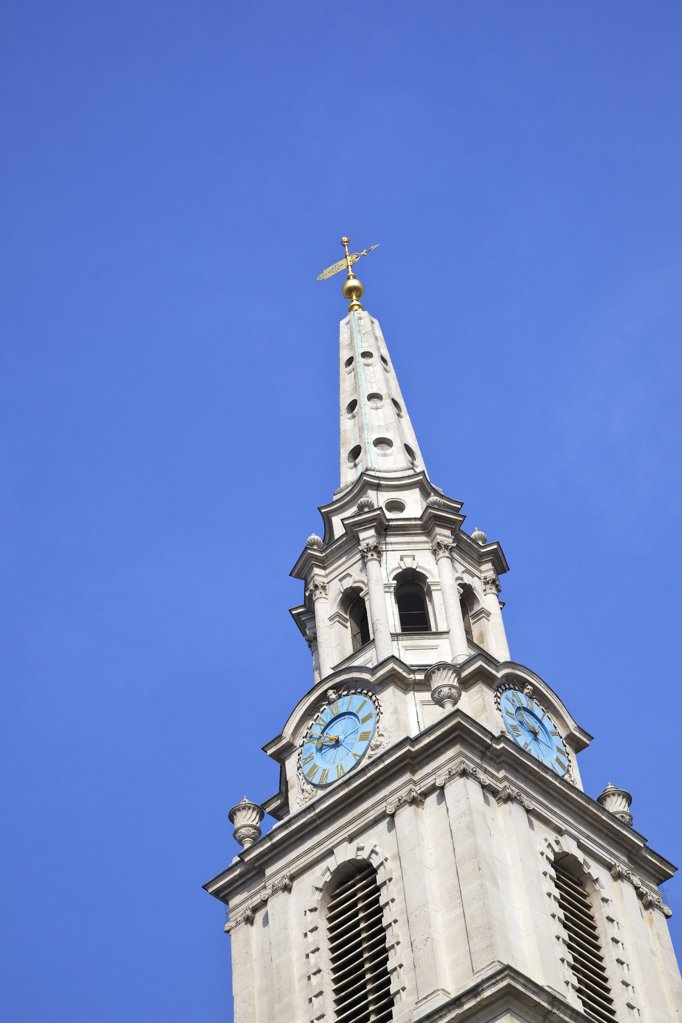 Stock Photo: 4042-2056 Great Britain, United Kingdom, England, London, Steeple of St Martin in Fields
