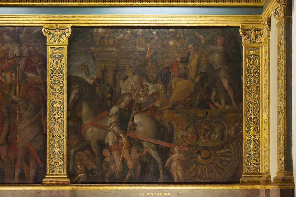 Stock Photo: 4042-2068 Great Britain, United Kingdom, England,  Surrey,  London, Hampton Court Palace, Julius Caesar, from Triumphs of Caesar, by Andrea Mantegna