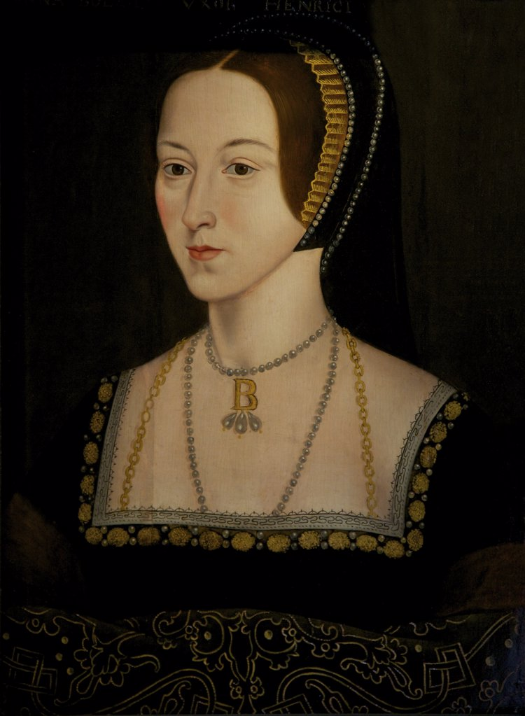 Stock Photo: 4042-2074 Great Britain, United Kingdom, England,  Surrey,  London, Hampton Court Palace,  Portrait of Anne Boleyn, unknown artist