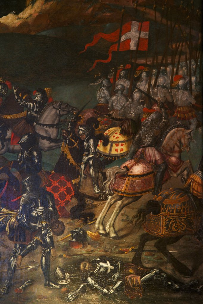 Stock Photo: 4042-2079 Great Britain, United Kingdom, England,  Surrey,  London, Hampton Court Palace, Battle of Spurs, detail, circa 1513, unknown artist