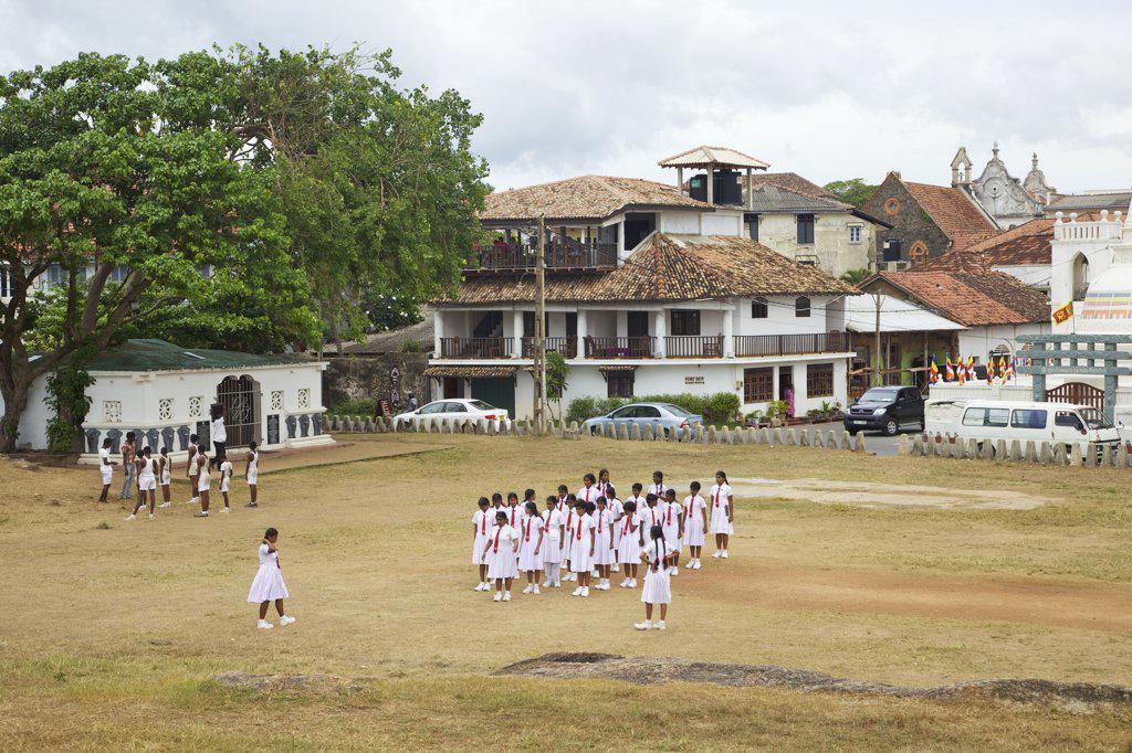 Stock Photo: 4042-2099 Sri Lanka, Galle, Local schoolchildren