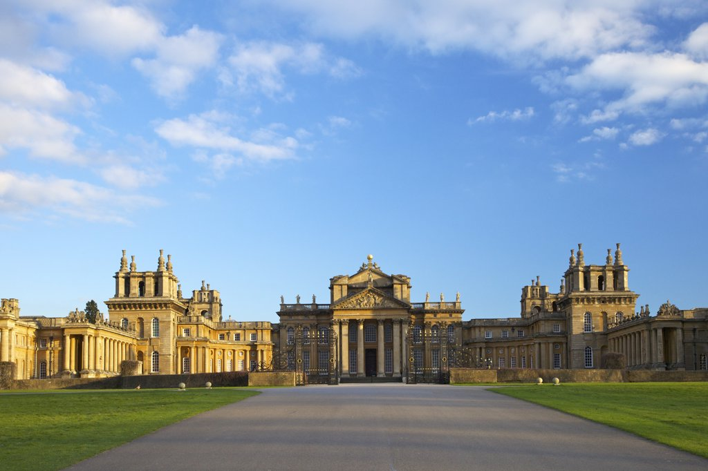United Kingdom, Oxfordshire, Woodstock, Blenheim Palace : Stock Photo
