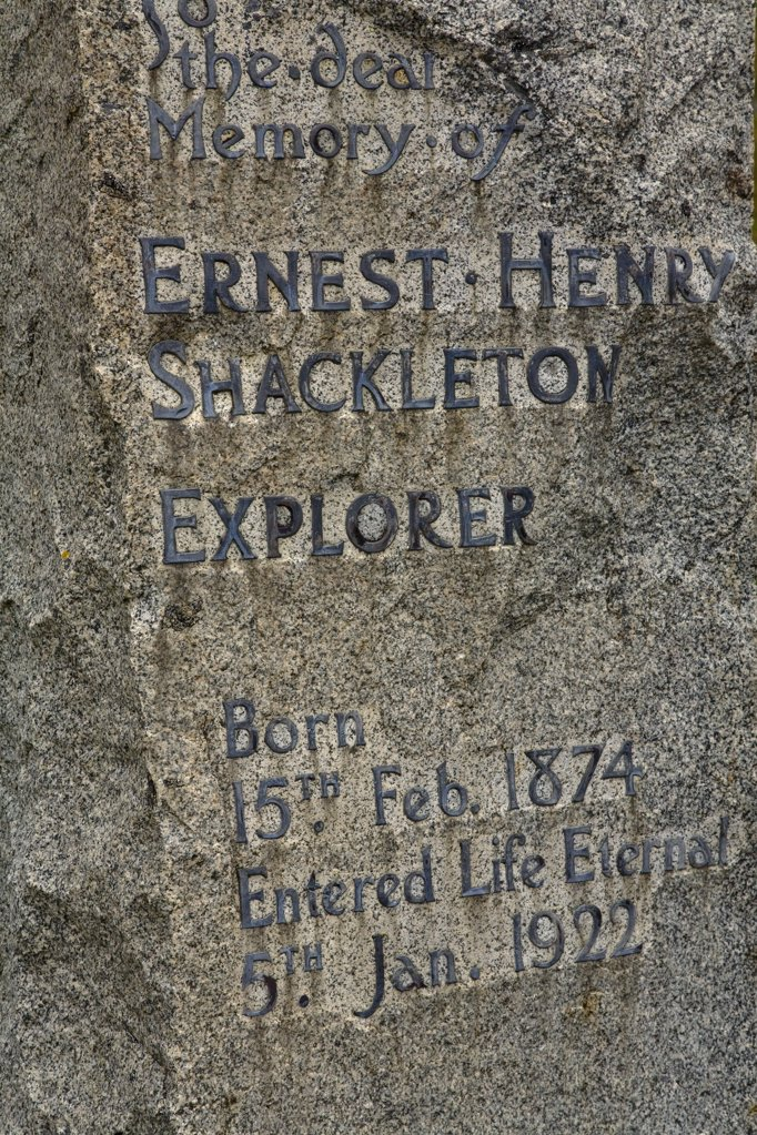Stock Photo: 4042-419 Close-up of a tombstone, Grytviken, South Georgia