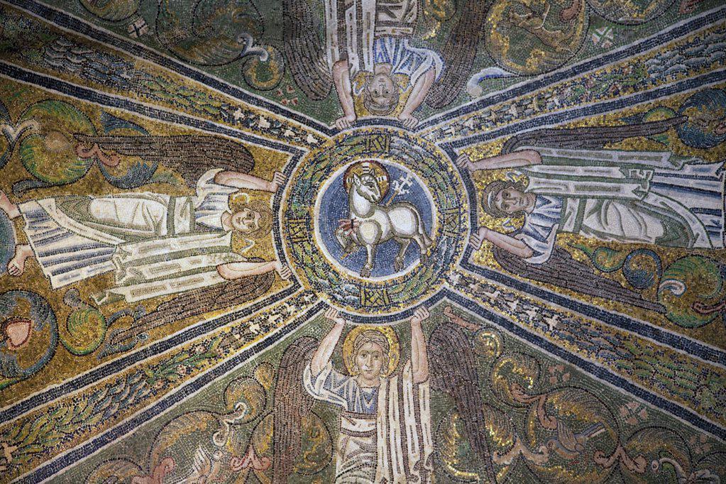 Italy, Veneto, Venice, Torcello, Cathedral of Santa Maria Assunta, Lamb of God : Stock Photo