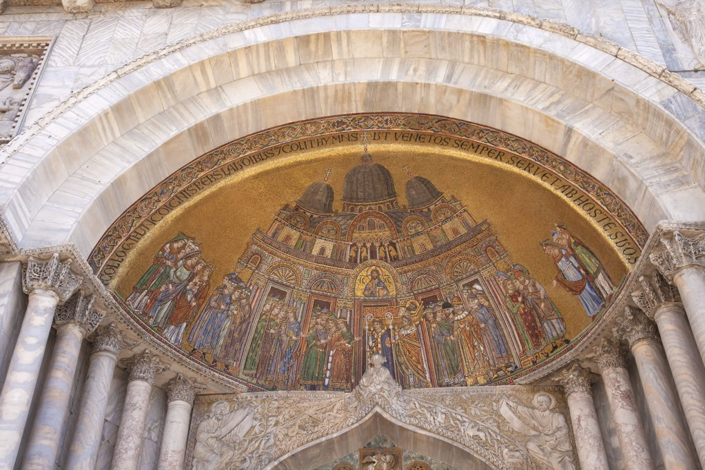 Italy, Venice, San Marco Square, St. Mark's Cathedral, mosaic : Stock Photo