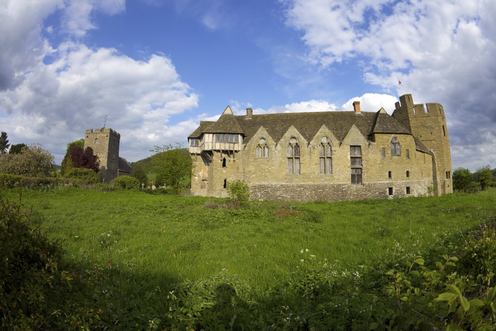Stock Photo: 4042-888 Castle on a hill, Stokesay Castle, Stokesay, Craven Arms, Shropshire, England