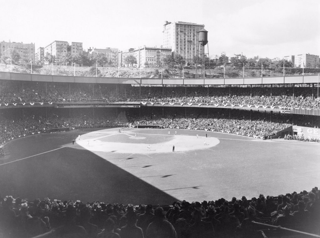 Stock Photo: 4048-1004 Polo Grounds, during the 1937 World Series between the New York Yankees and the New York Giants