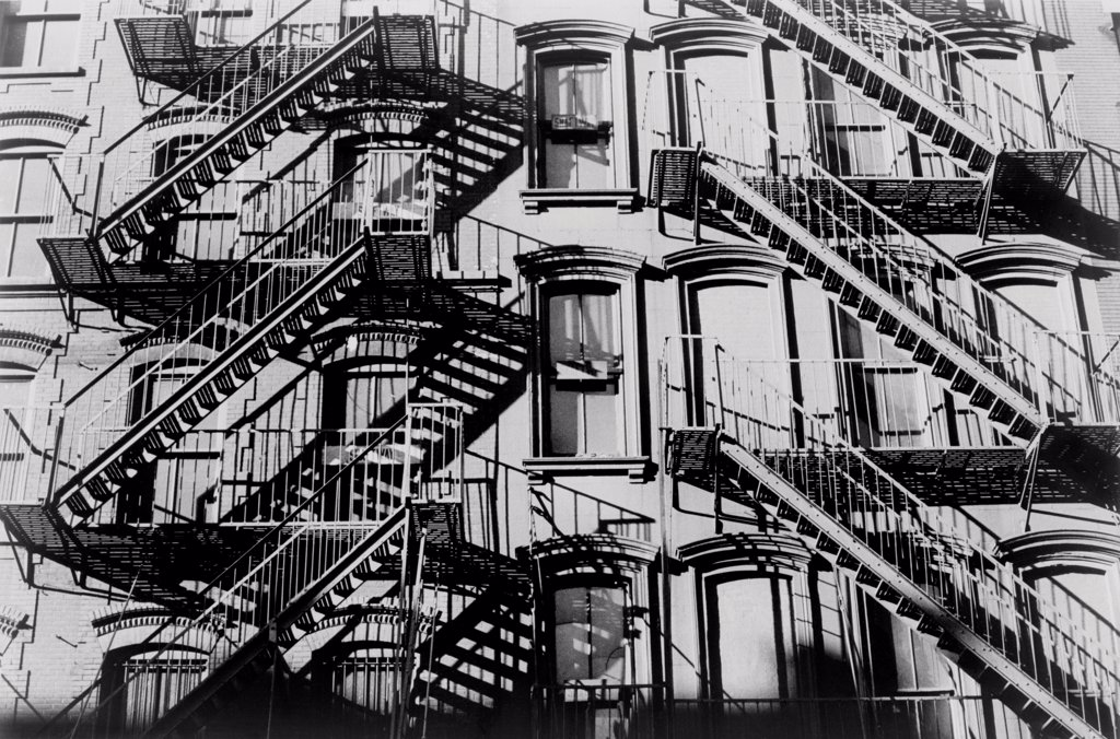 Stock Photo: 4048-10477 A tenement building on the Lower East Side, New York City. 1966.