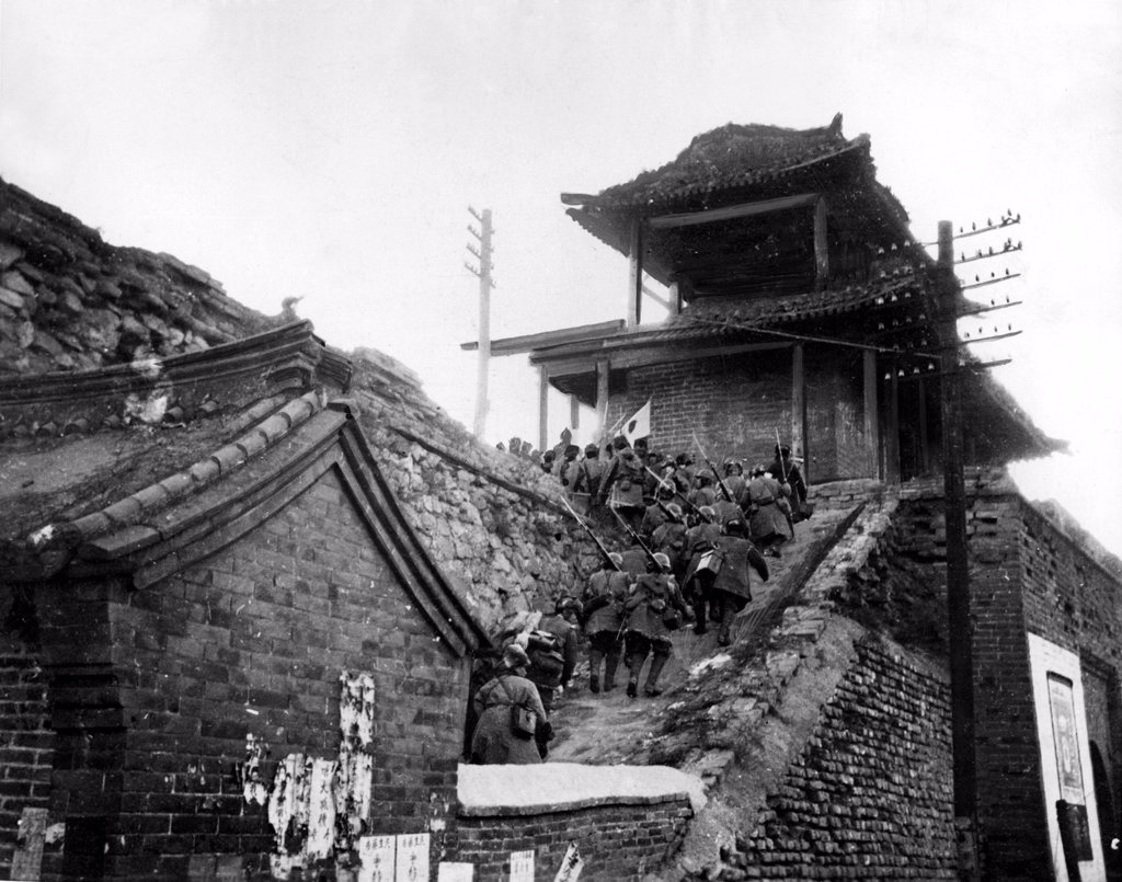 JAPANESE CLIMB CHINESE WALL
