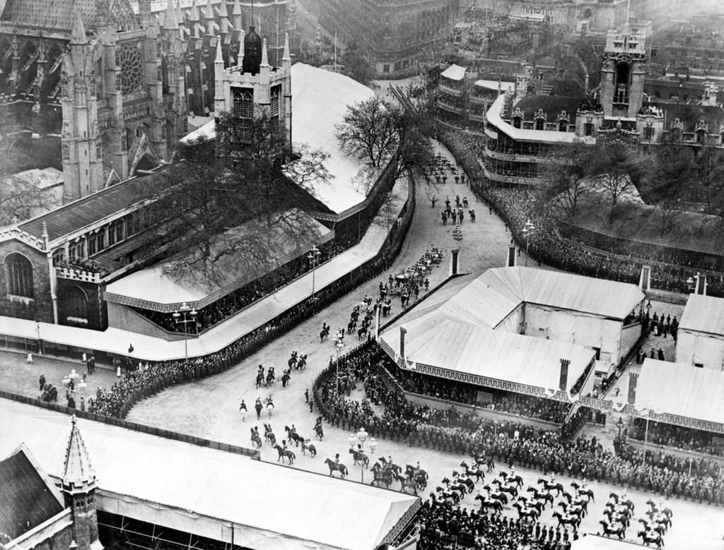 ARRIVING FOR CORONATION