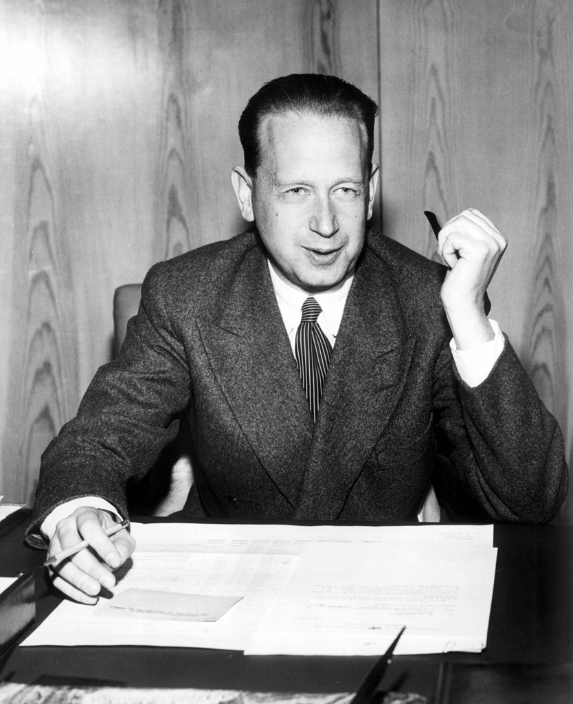 Stock Photo: 4048-1246 Dag Hammarskjold, 1950s