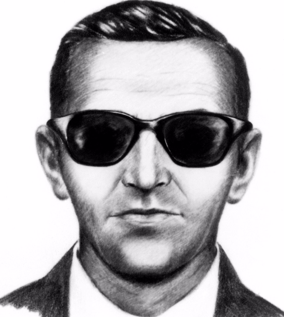 Stock Photo: 4048-1255 FBI composite of airplane hijacker D.B. Cooper, 1971
