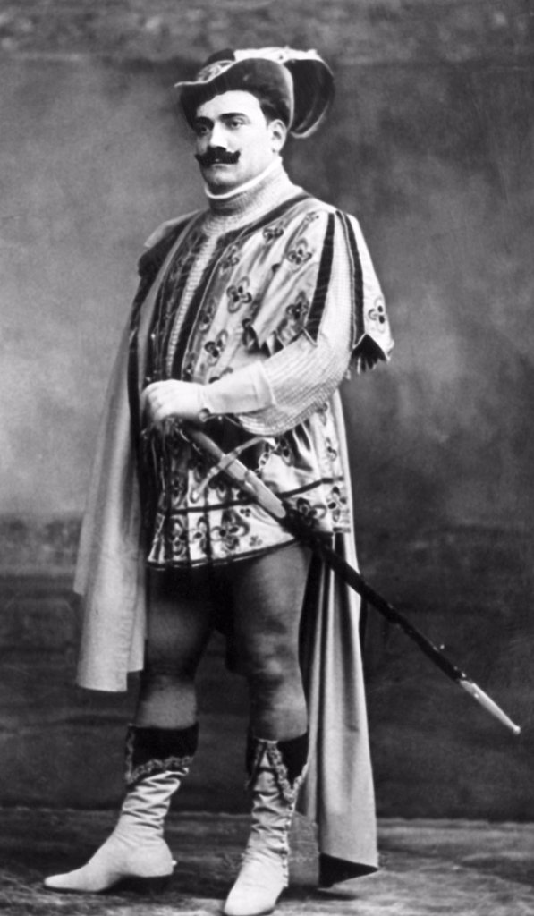 Stock Photo: 4048-1329 Enrico Caruso as he appeared in Il Trovatore, early 1900s