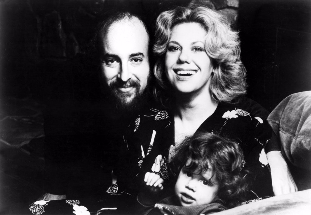 Stock Photo: 4048-1337 Erica Jong, author, and family--husband Jonathan Fast and daughter Molly