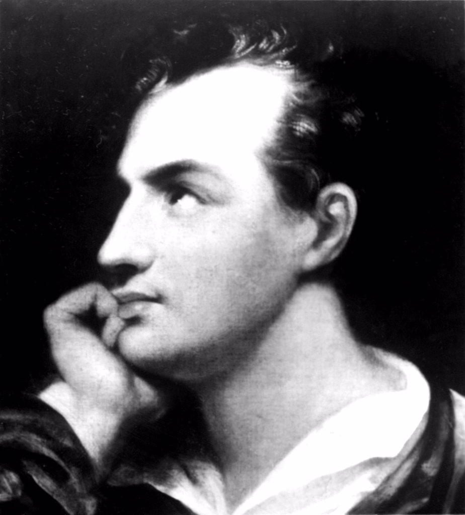 Stock Photo: 4048-1377 George Gordon Byron (Lord Byron)