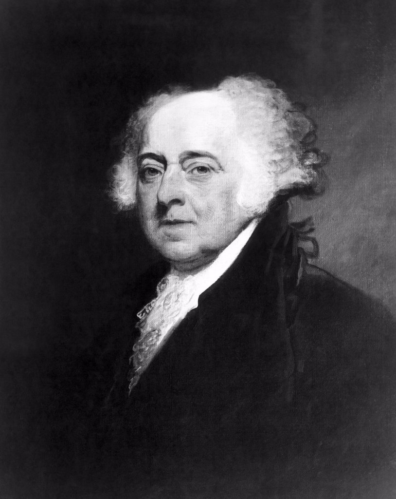 John Adams (1735-1826), American President (1797-1801). Portrait painted by Gilbert Stuart in 1798 : Stock Photo