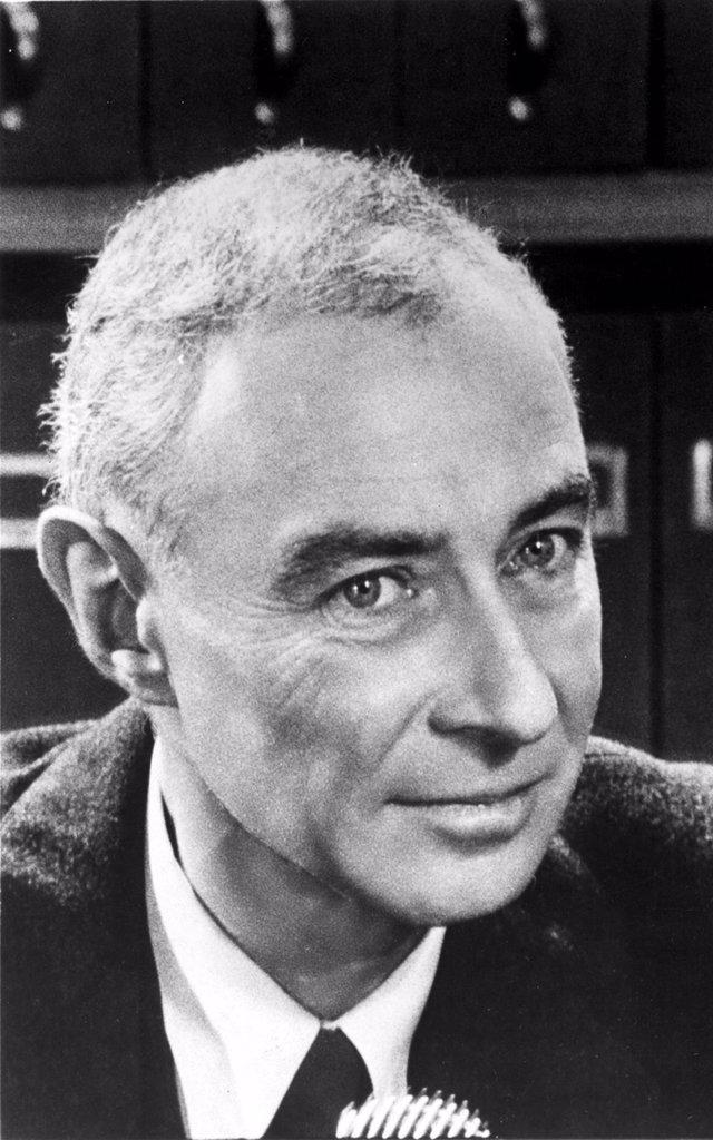 Stock Photo: 4048-1528 J. ROBERT OPPENHEIMER- head of the Manhattan Project (developed the Atom bomb)